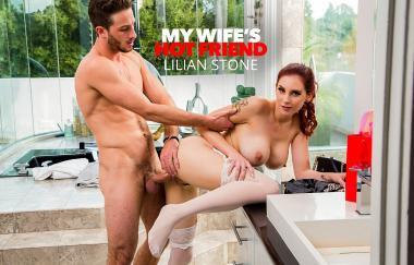 Lilian Stone, Lucas Frost – Lilian Stone probiert die Dessous ihrer Freunde aus und wird vom Ehemann erwischt – My Wifes Hot Fri (NaughtyAmerica)